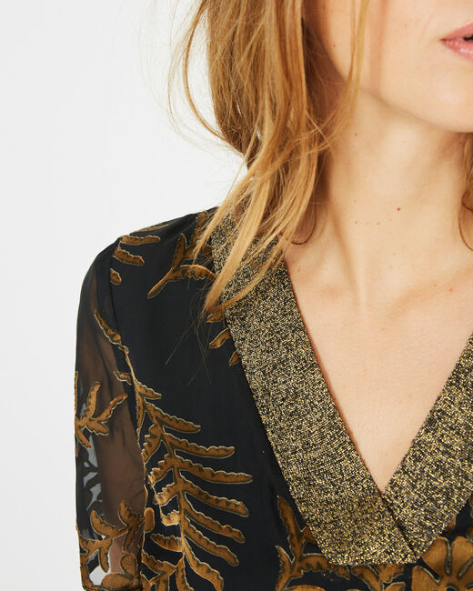Dorée camel blouse with openwork detailing (2) - 1-2-3