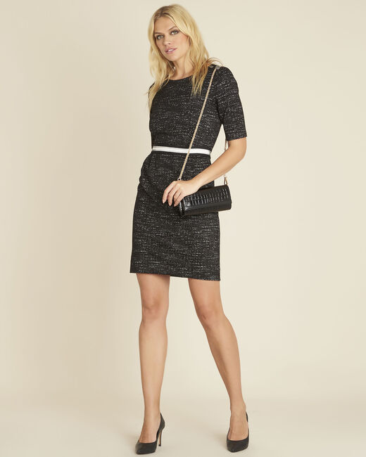 Danielle Milano black dress with belt (1) - 1-2-3