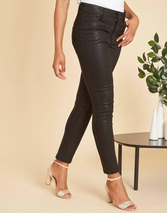 Schwarze beschichtete 7/8-Jeans Oliver (3) - 1-2-3