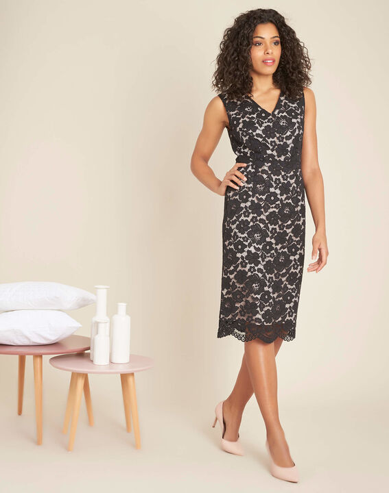 Istory black straight-cut lace dress (1) - 1-2-3