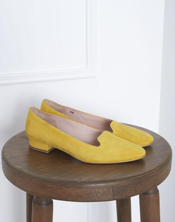 Mocassins jaunes en cuir velours Yucca PhotoZ | 1-2-3