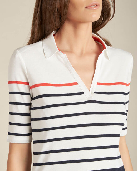Embruns navy blue striped polo (2) - 1-2-3