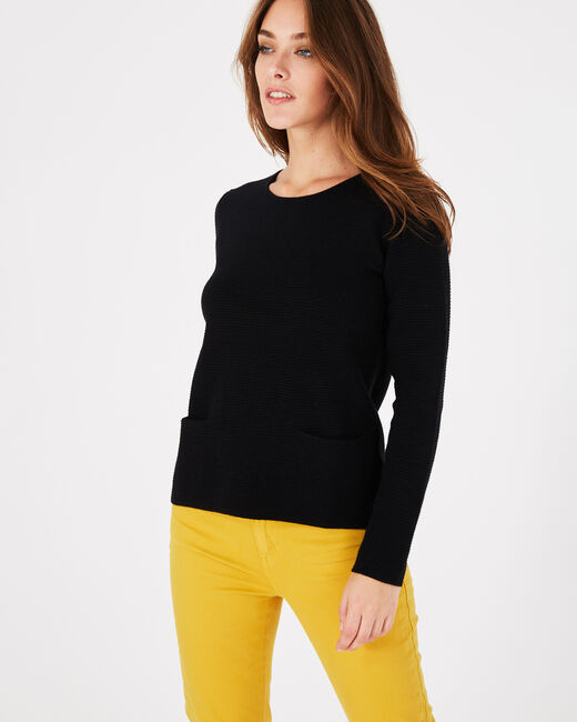 Pull noir col rond Paradis (2) - 1-2-3