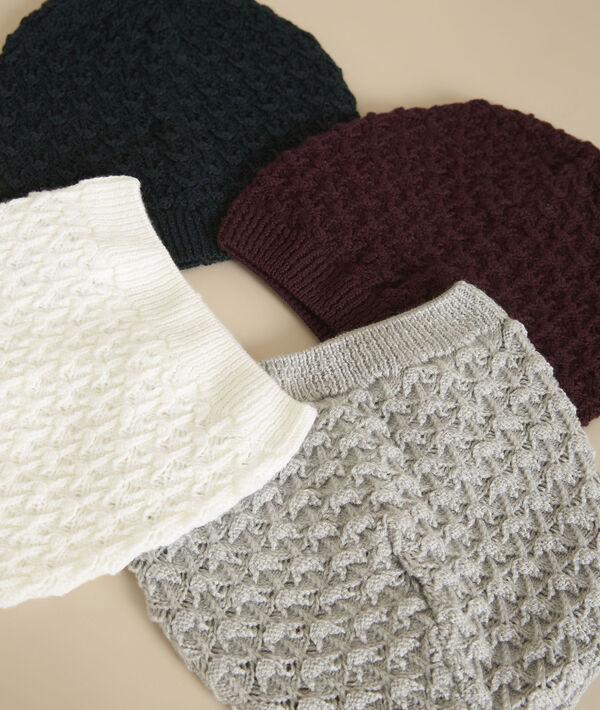 Bonnet écru en laine Galdric PhotoZ   1-2-3