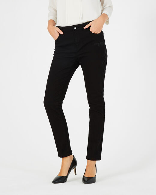 Schwarze 7/8-Jeans mit Phönix-Stickerei Nala (2) - 1-2-3
