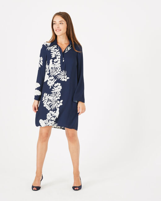 Azur floral printed shirt-dress (1) - 1-2-3