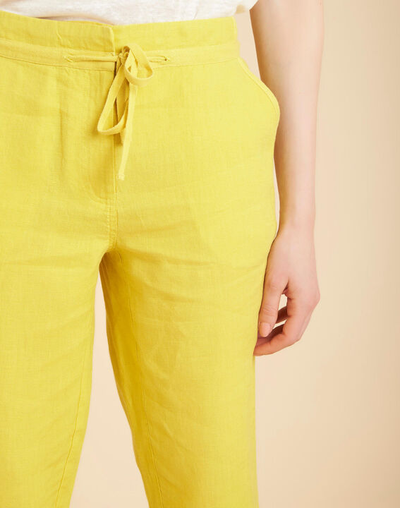 Joris yellow trousers in linen PhotoZ | 1-2-3
