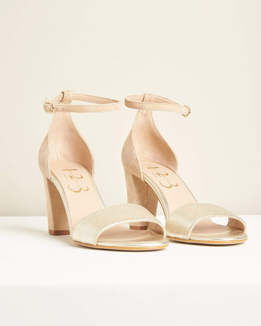 Sandales à talons nude en cuir Kris (2) - 1-2-3