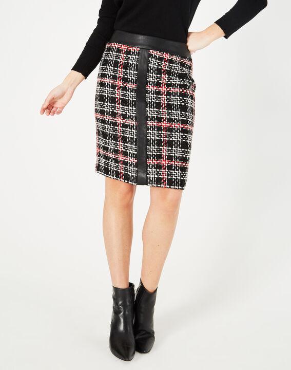 Felicia black and white check skirt (2) - 1-2-3