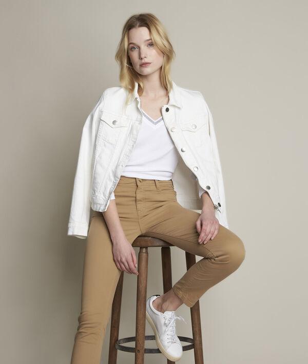 Veste en jean blanche Clem PhotoZ | 1-2-3