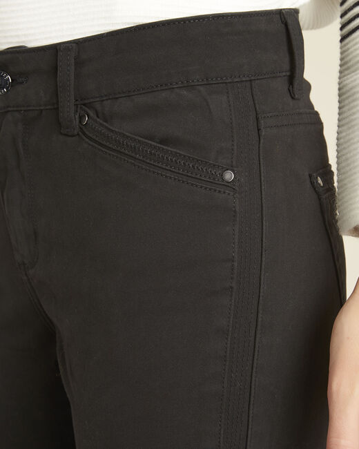 Opéra slim-cut black jeans with zip detailing (2) - 1-2-3