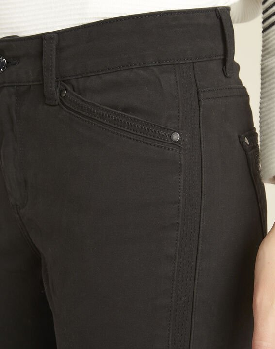 Opéra slim-cut black jeans with zip detailing (3) - 1-2-3