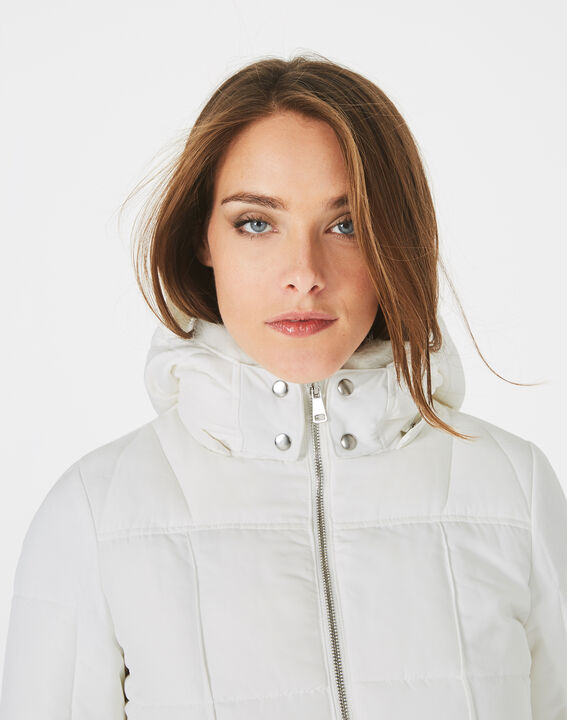 Livia white puffer jacket with a belt (3) - 1-2-3