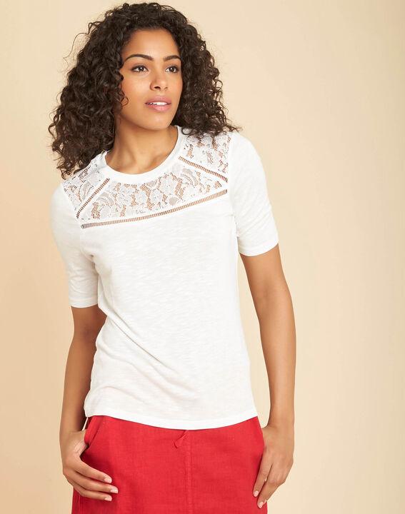 Tee-shirt écru à dentelle Envy (3) - 1-2-3