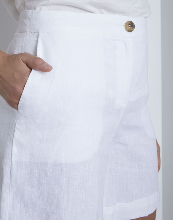 Short blanc en lin Guelta (3) - Maison 123