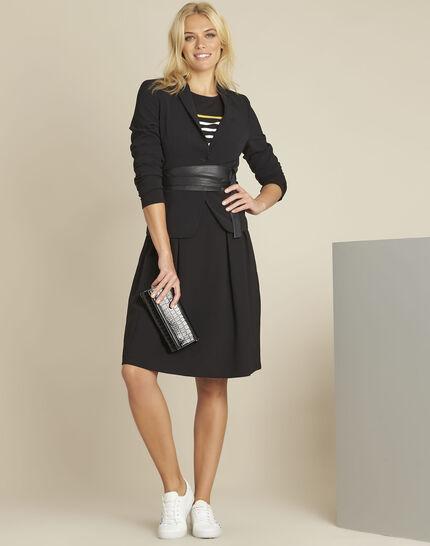 Veste courte de tailleur noir Eve 2 (2) - 1-2-3