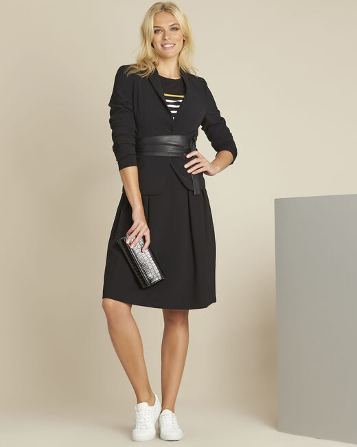 Veste courte de tailleur noir Eve 2 (1) - 1-2-3