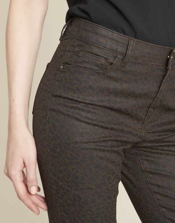 Jean anthracite slim motif léopard Vendome (3) - 1-2-3