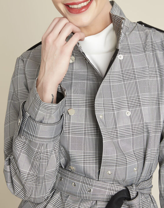 Emilia long checked trench coat (3) - Maison 123