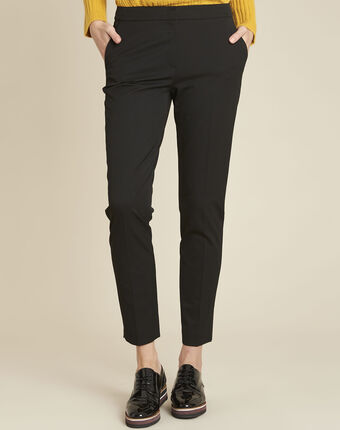 Helsy black cigarette-cut trousers black.