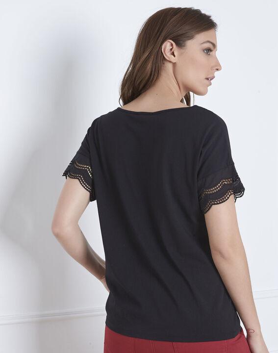 Portofino black V-neck lace top (4) - Maison 123
