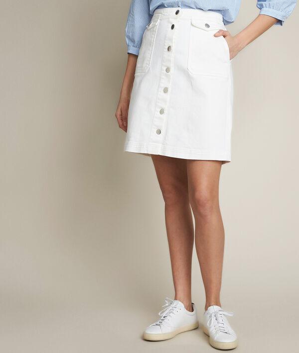 Jupe en jean boutonnée Ambre PhotoZ | 1-2-3