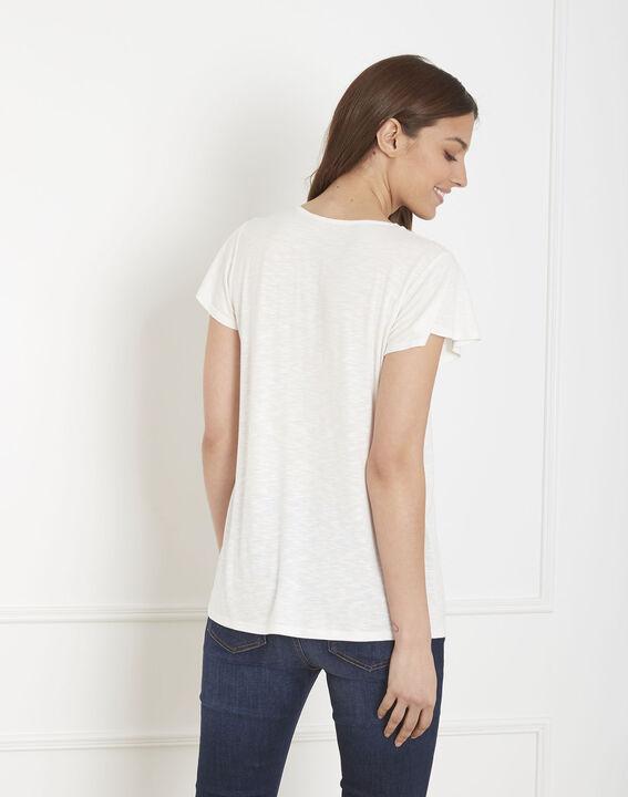 Tee-shirt écru encolure fantaisie Penelope (4) - Maison 123