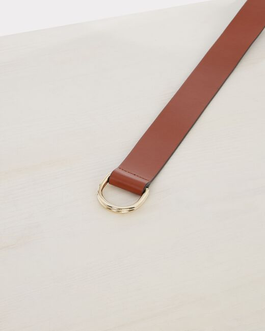 Ondine wide camel leather belt (2) - 1-2-3