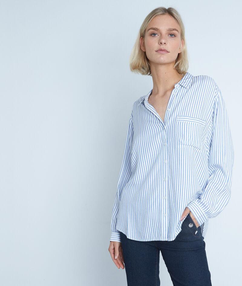 Chemise ample bleue et blanche à rayures Adila PhotoZ   1-2-3