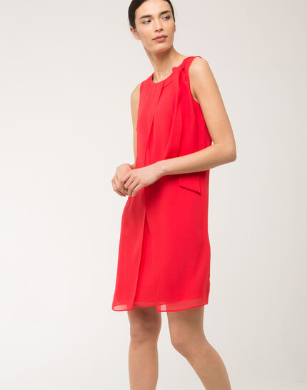 Fanny orange dress in silk with bow on the shoulder (6) - 1-2-3