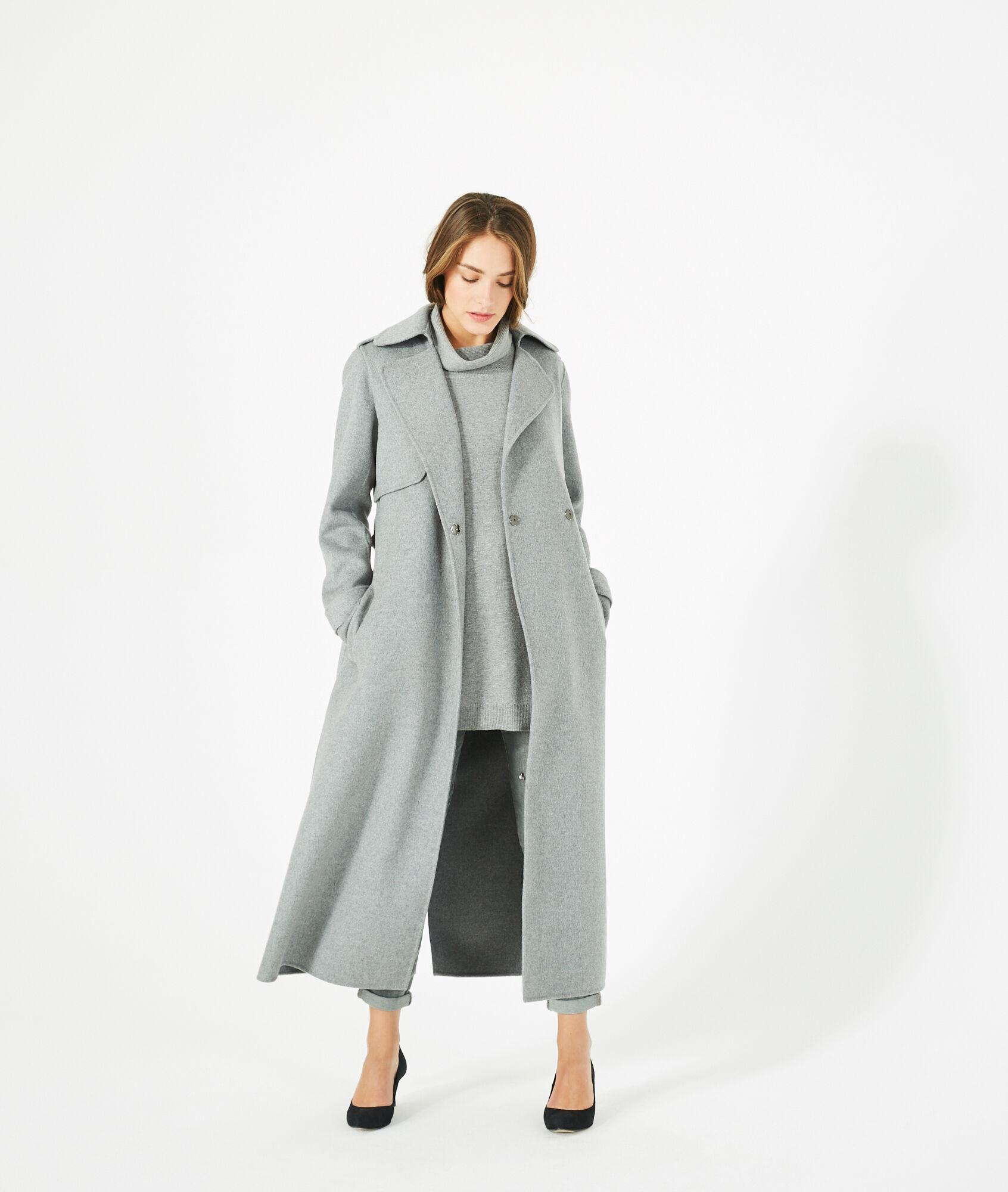 Jill long grey wool coat - 123