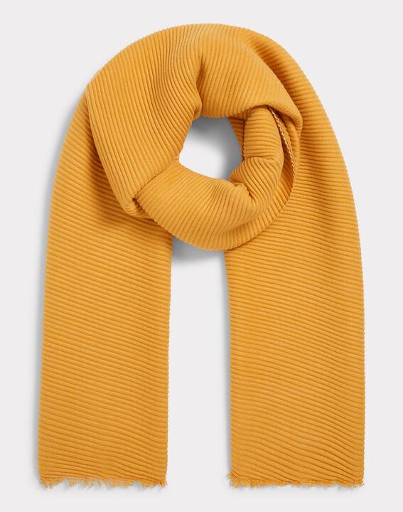 Echarpe bicolore jaune Elila PhotoZ   1-2-3