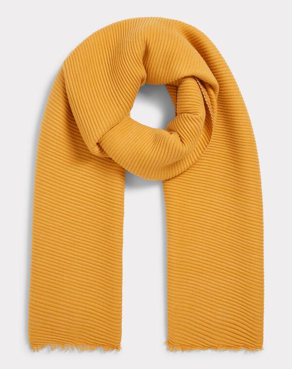 Echarpe bicolore jaune elila à