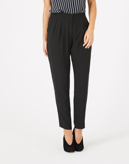 Daria black crepe trousers PhotoZ | 1-2-3