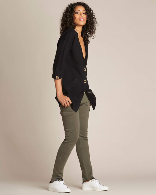 Nelson black cardigan with golden fastening (2) - 1-2-3