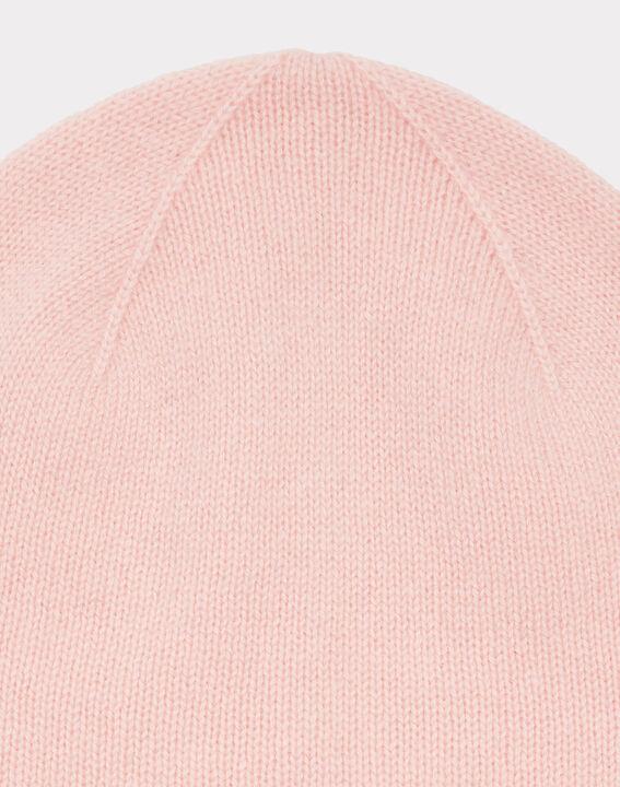 Bonnet rose pâle en cachemire Tilleul (2) - 1-2-3