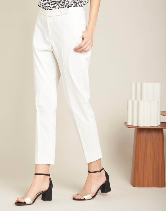 Rubis ⅞-length ecru trousers (3) - 1-2-3