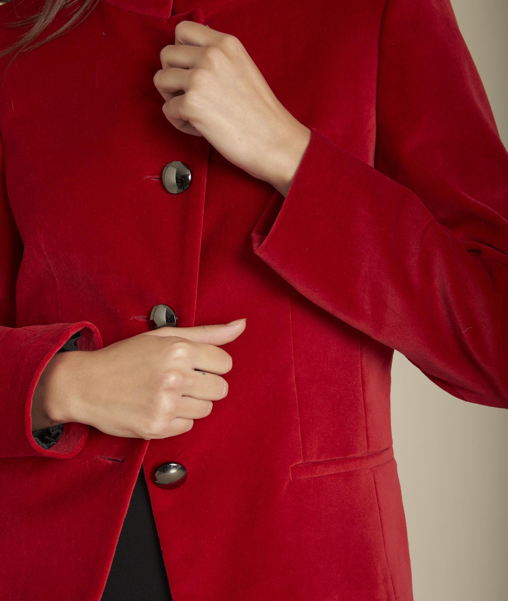 Rote Aus 123 DamenMaison Jacke Samt Bergame vNwPym0O8n
