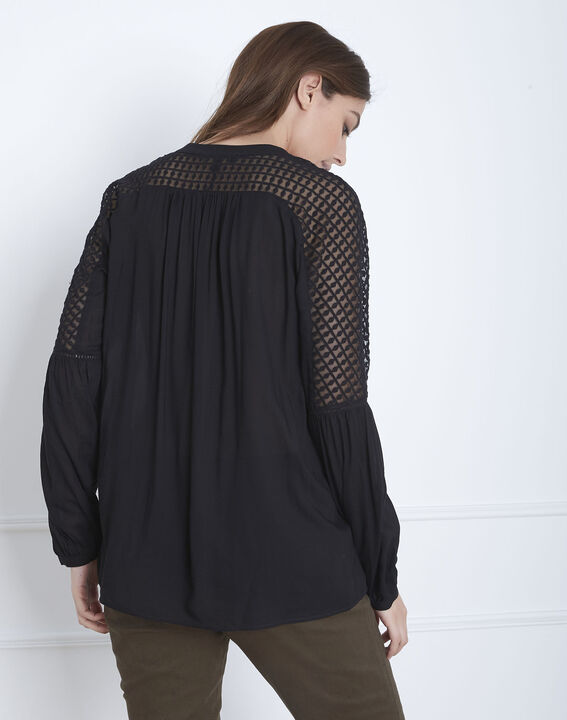 Valy black lace blouse (4) - 1-2-3