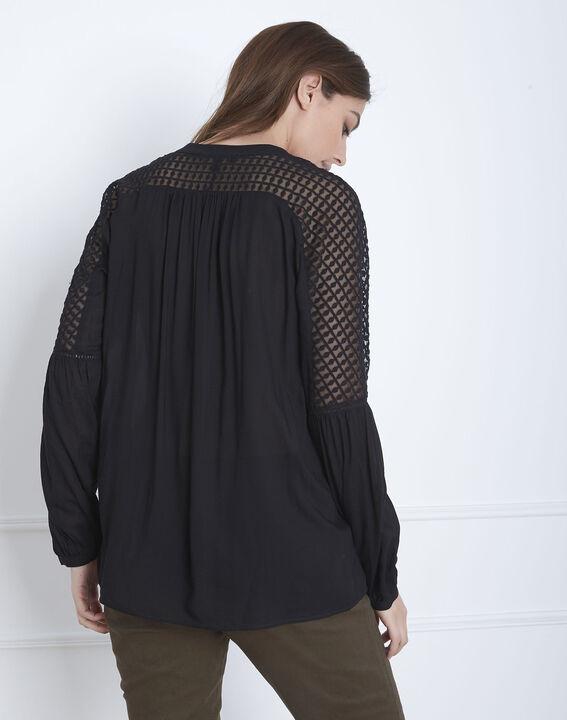 Zwarte blouse van kant Valy (4) - Maison 123