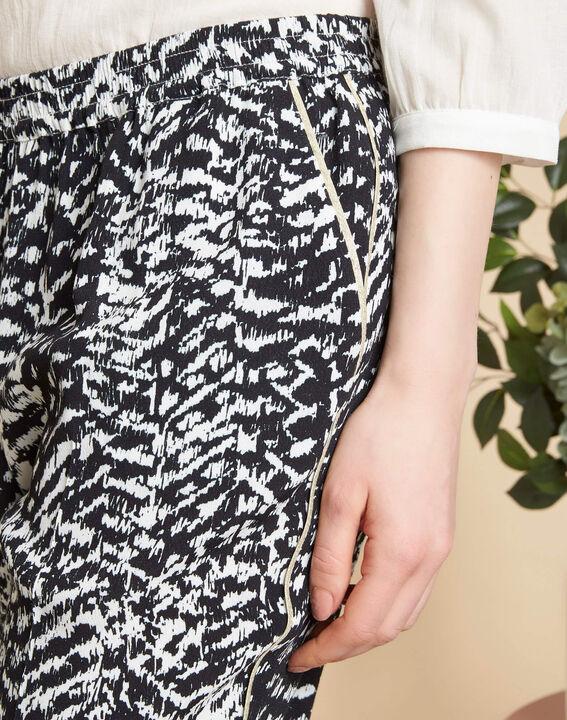 Schwarz-weiße Hose mit Print Samy PhotoZ | 1-2-3