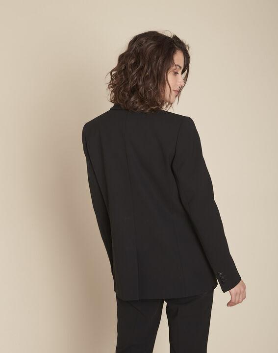 Stella black jacket with cowl microfibre neckline (4) - 1-2-3