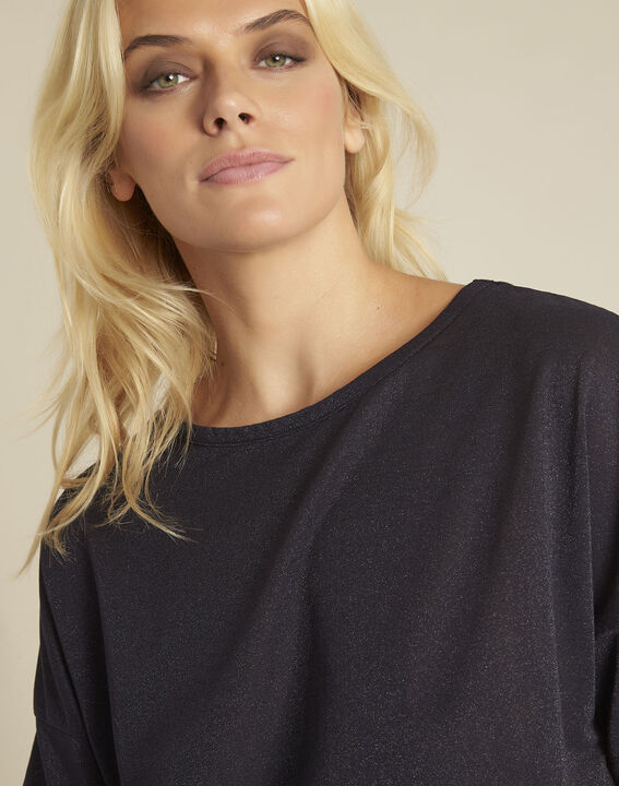 Donkerblauw lurex shirt Galway (3) - 37653