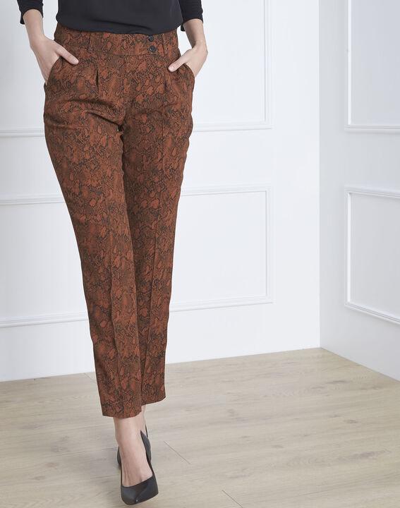 Pantalon acajou imprimé serpent Gerende (1) - Maison 123
