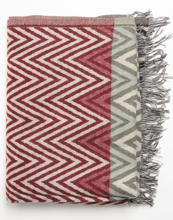 Figara red scarf with graphic print (1) - Maison 123