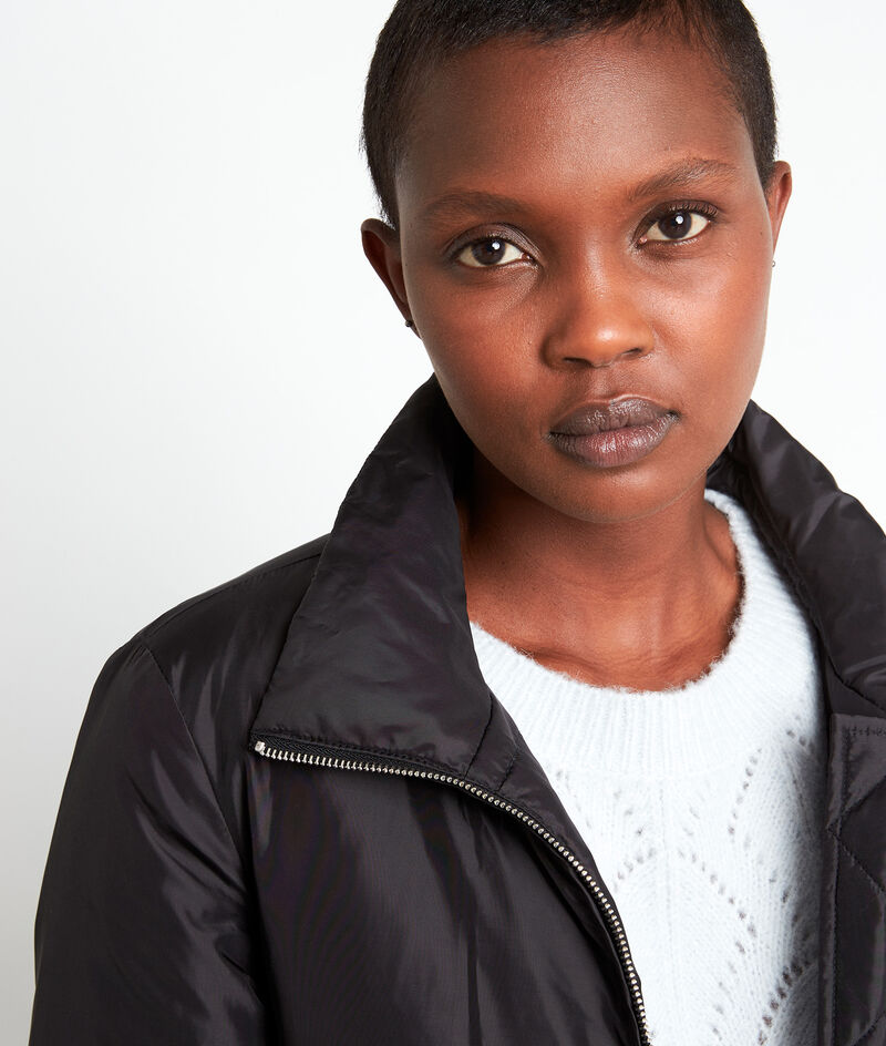 Doudoune courte lisse noire Leonie  PhotoZ | 1-2-3