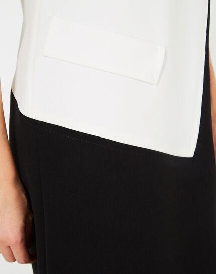Robe noir et blanc graphique Ambre (4) - 1-2-3