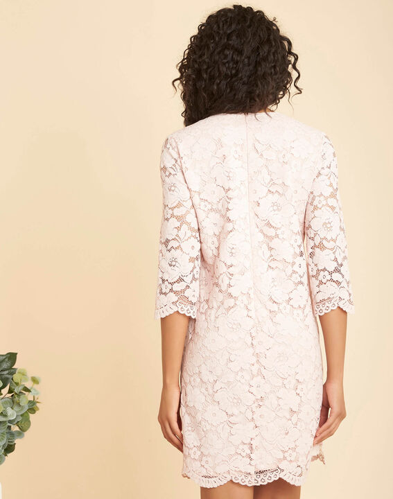 Poesie nude lace dress with side strip (4) - 1-2-3
