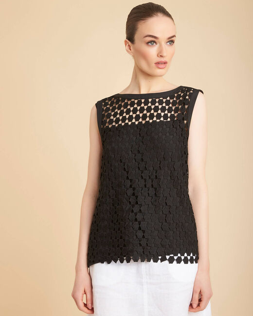 Guimauve black lace openwork top (2) - 1-2-3