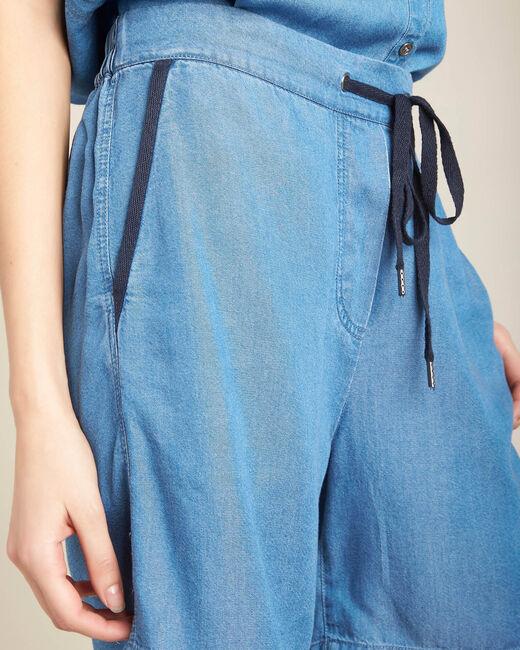 Fließende Jeansshorts mit Kordel Jasmin (2) - 1-2-3